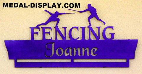 FENCING MEDAL DISPLAY-MEDAL-DISPLAY.COM-HANGER-RACK