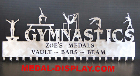 New for 2016 Gymnastics Awards Displays: Personalized Gymnastics Medals Holder