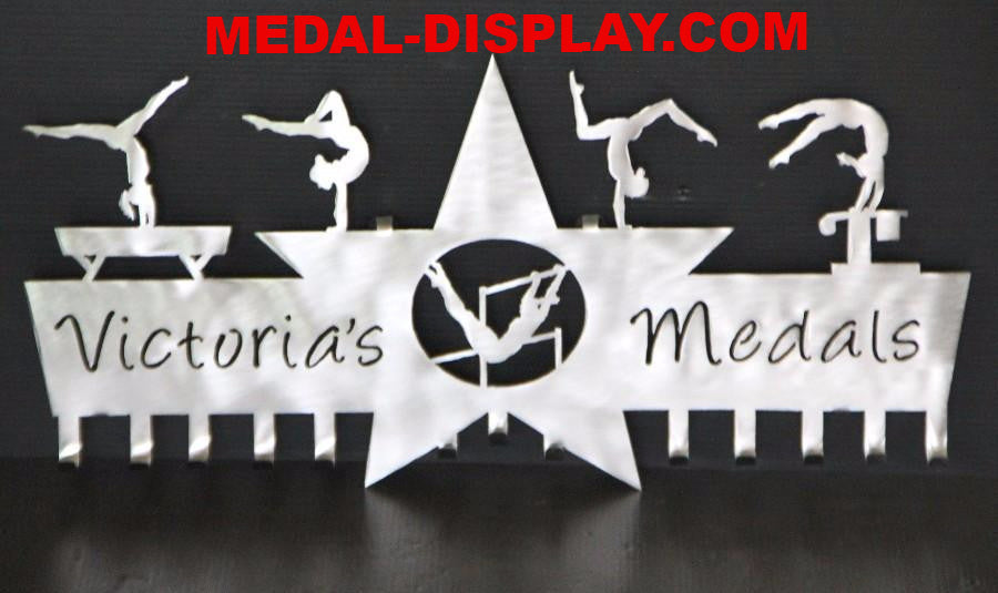 Gymnastics Medal Holder Brilliant 5 Star Design Medal