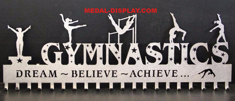 Custom Gymnastics Medal Holder for the all round Gymnast. customcut4you.com