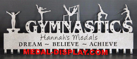 Gymnastics Medal Holder: Personalized Gymnastics Medals Holder: Gymnastics Medals Hanger