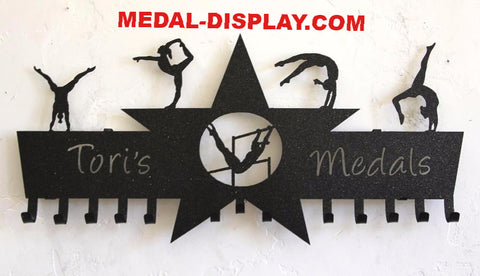 Gymnastics Medal Holder and Tumbling Medal Hanger-customcut4you.com