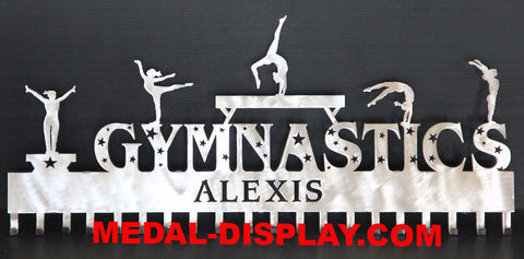 Premier  Gymnastics Medal Display: Personalized Gymnastics Medals Holder: Gymnastics Medals Hanger