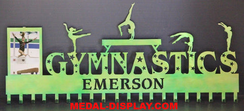 Gymnastics Medal Display: Personalized Gymnastics Medals Holder: Gymnastics Medals Hanger