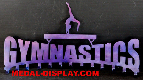 Gymnast Ribbon Display: Gymnastics Ribbons Hanger: Medals Holder