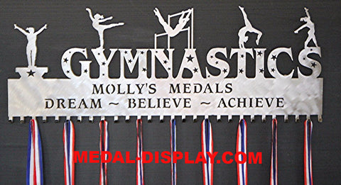 42 Inch Giant Medal Holder: Personalized 28 Hook Gymnastics Medals Display: Gymnastics Medals Hanger