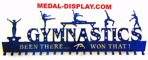 Gymnastics Awards Display: Personalized Gymnastics Medals Holder: Gymnastics Medals Hanger