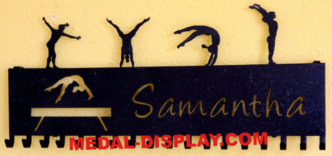 Gymnastic Medal Hanger Display: Personalized Medal and Ribbons Display