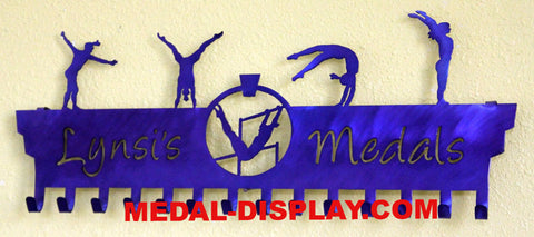Gymnastics Medal Display: Personalized Medals Holder: Medal Hanger