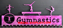 Gymnastics Medal Hanger and Display Rack: Personalized Medal and Ribbons Display