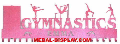 Gymnast Medal Awards Rack: Personalized Gymnastics Medals Holder: Gymnastics Medals Hanger
