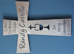First Holy Communion Gift:  Personalized Communion Gift: Communion  Wall Cross