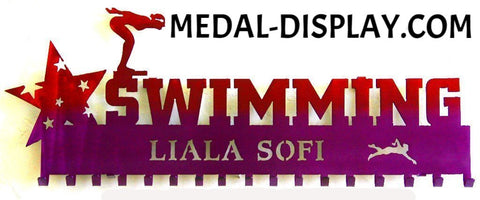 Medal Holder for Swimming: Swim Medal Holder: Swimming Medal Display