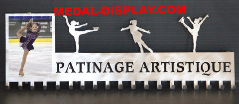 Custom Ice Skating Medal Holder customcut4you.com