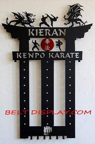 Exclusive Karate Belt Display personalized with a name
