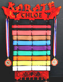 Personalized 12 level karate belt display, Order online, Best quality
