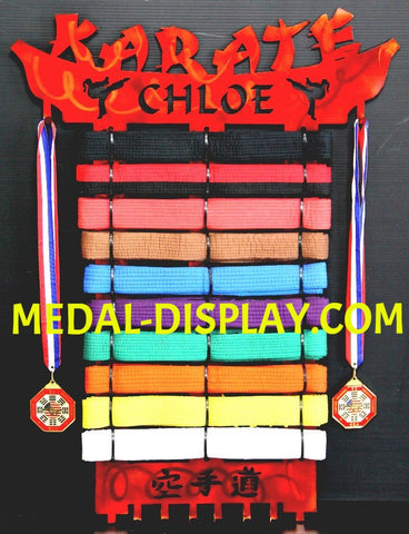 Best Choice Karate Belt Display for all belt levels | medal-display.com