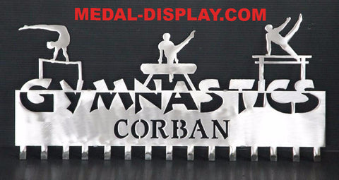 The Official Male Gymnastics Awards Displays: Personalized Gymnastics Medals Holder: Gymnastics Medals Hanger