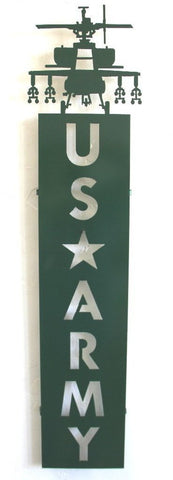 Custom Army Plaque: Military Decor:  Outdoor Plaques: Military Plaques