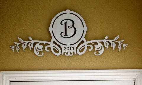 MONOGRAMMED ROOM DECOR