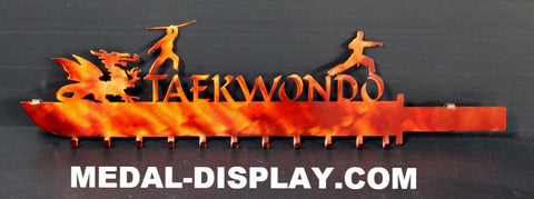 Personalized Martial Arts Medal Display