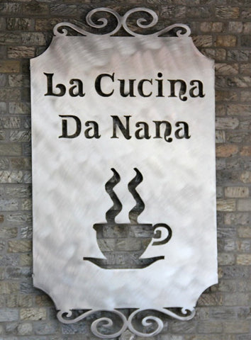 Personalized Kitchen Wall Decor Coffee Themed Decor Nana Kitchen