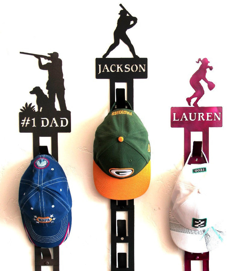 personalized hat rack cap holder wall mounted racks for baseball caps