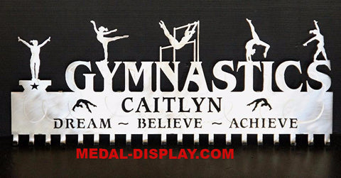 Gymnastics Medal Holder: Personalized Gymnastics Medals Display: Gymnastics Medals Hanger