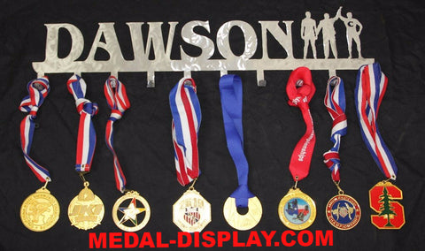 Personalized Wrestling  Medal  Holder / Hanger