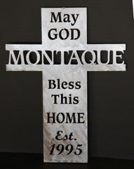 Religious Wall Cross Personalized