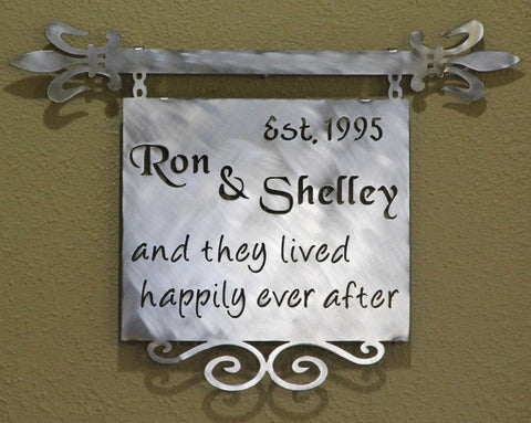 Anniversary Wall Plaque: Wedding Wall Plaque