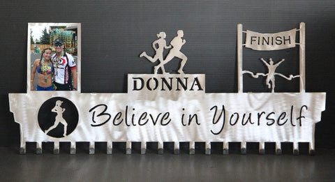 Copy of Runner Medal Hanger: Running Photo Display: Running Awards Hanger