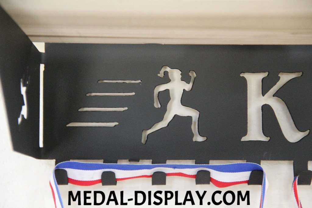 Running Medal Display And Trophy Shelf