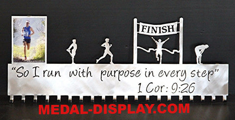 Runner Medal Hanger: Running Photo Display: Running Awards Hanger
