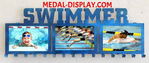 Swimming Medals Hanger: Swimming Awards Displays: Swimming Picture Holder