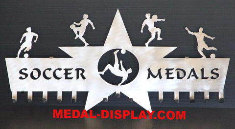 Custom Soccer Medals Holder customcut4you.com
