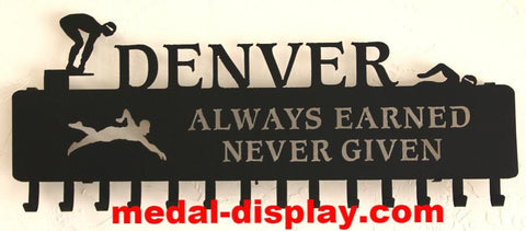 Best Selling Swimming Medal Display, Personalized Ribbons Hanger | medal-display.com