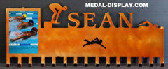 Swimming Ribbons Holder-MEDAL-RACK-HANGER-MEDAL-DISPLAY.COM