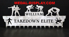 Medal Holder For Wrestling: Personalized Medals Hanger:  Wrestling Medal Holder