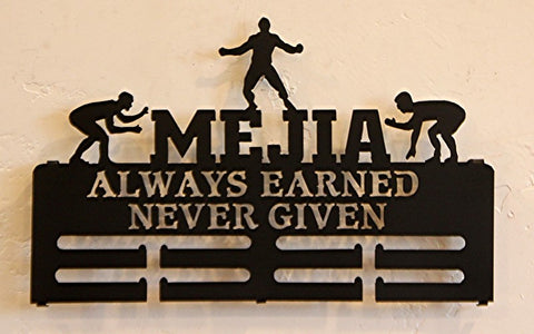 Wrestling Medal Holder and Display, Custom Medal Hanger