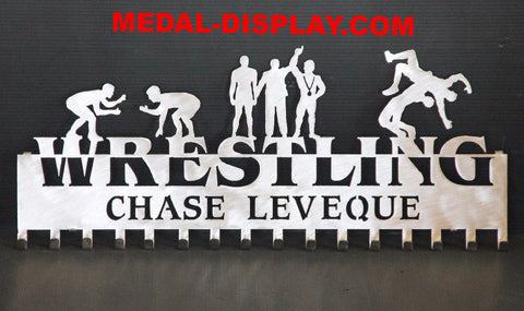 Just Released Brand New for 2016 Wrestling Medal Holder,Wrestling Medals Hanger Wall Display:
