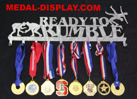 Wrestling Medal Display