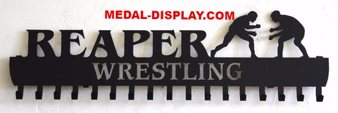 Wrestling  Medal  Display:  Personalized  Medals Holder and Hanger