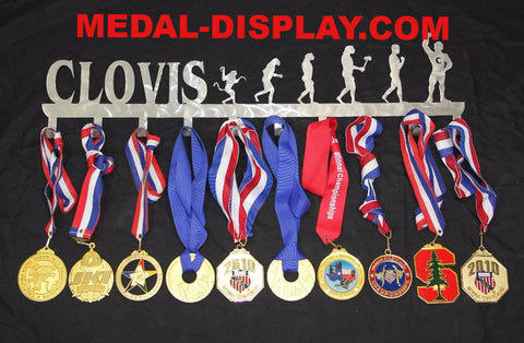 Wrestling  Medal  Display:  Medals Holder and Hanger
