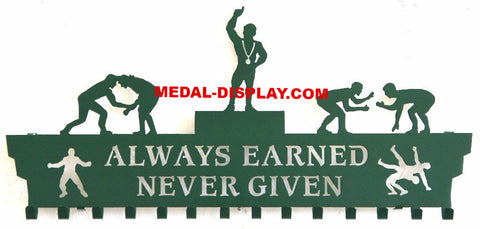 Wrestling Medal Holder and Awards Display-MEDAL-DISPLAY.COM