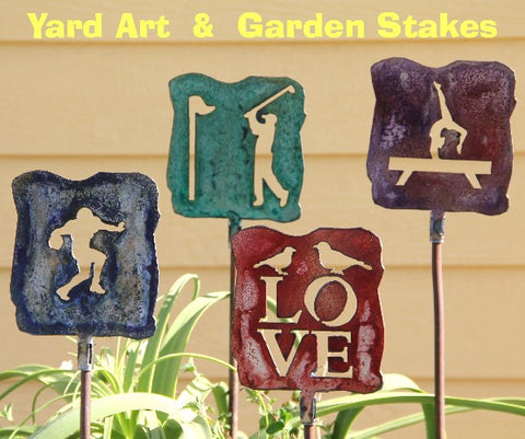 Yard Art Stakes: Outdoor Plaques: Garden Stakes