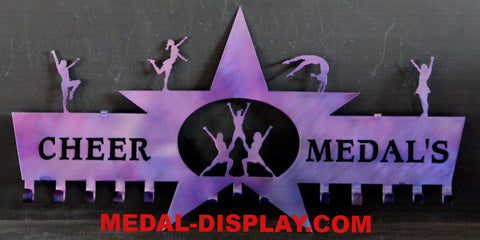 Cheer Medal Holder: Cheerleading Medals Display:  Medal  Holder for Cheerleading  Awards