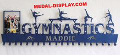 Impressive Gymnastics Medals holder personalized with a name