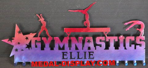 Personalized  Gymnastics Medals Display: Gymnastics Ribbons Holder:  Medals Hanger