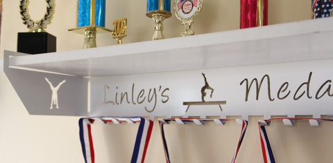 Trophy Shelf Personalized Medal Display